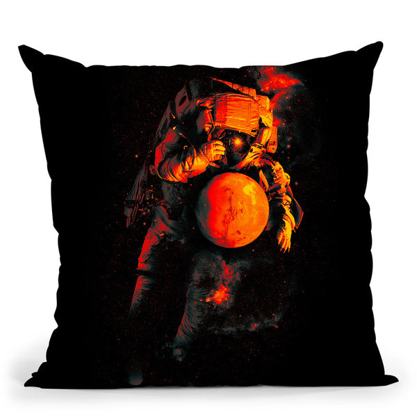 It'S A Small World After All Mars Throw Pillow By Nicebleed