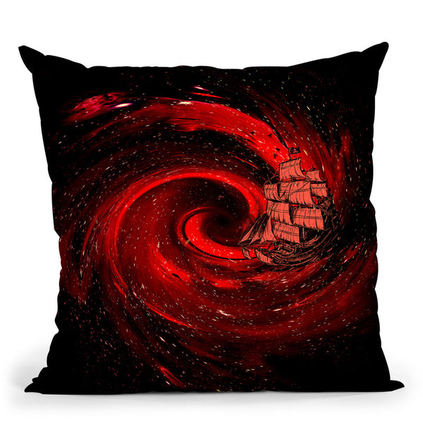 Journey To The Edge Of The Univ Throw Pillow By Nicebleed
