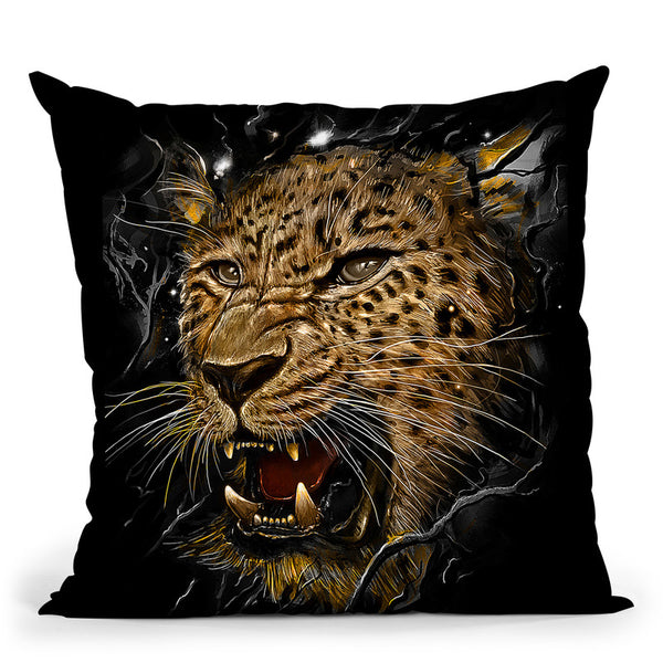Leopard Throw Pillow By Nicebleed