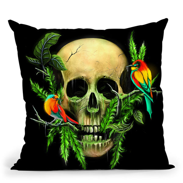 Life And Death Throw Pillow By Nicebleed