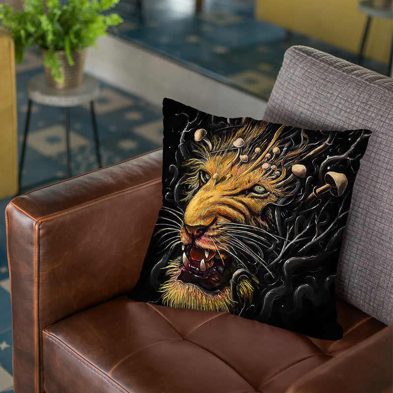 Lion Throw Pillow By Nicebleed