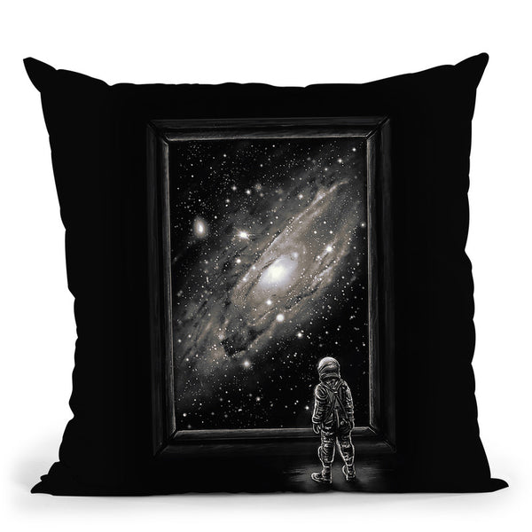 Looking Through A Masterpiece Throw Pillow By Nicebleed