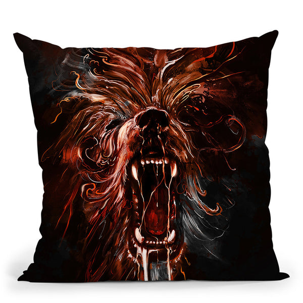 Mad Beast Ii Throw Pillow By Nicebleed