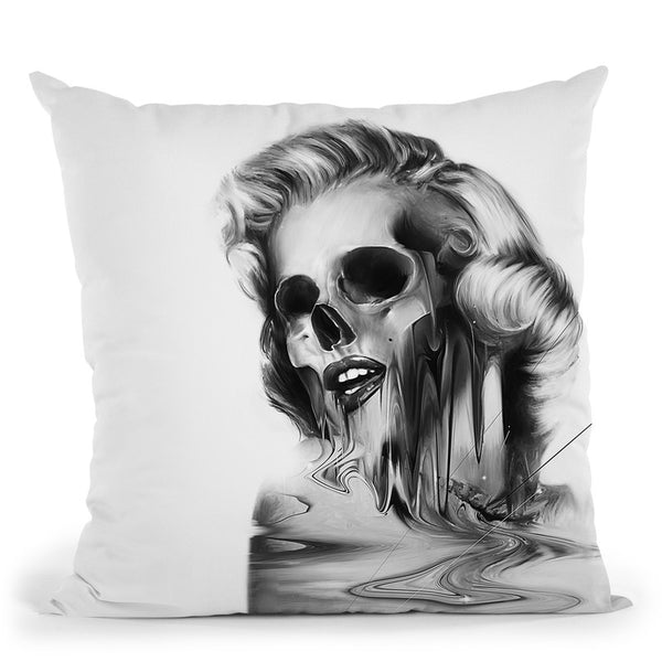 Marilyn Portrait Throw Pillow By Nicebleed