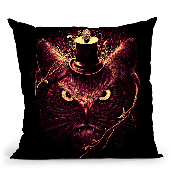 Meowl Throw Pillow By Nicebleed