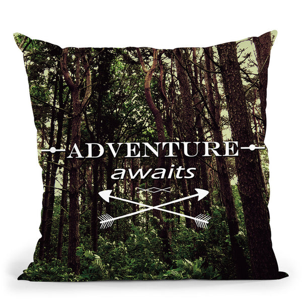 Adventure Awaits Throw Pillow By Niklas Gustafson