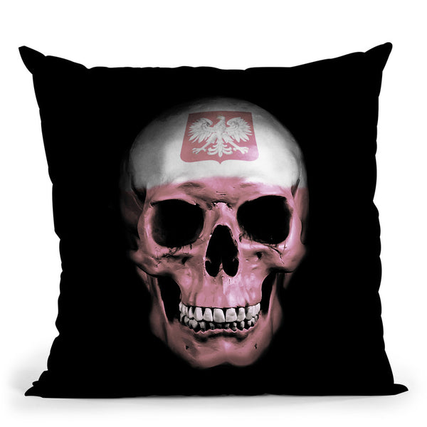 Polish Skull Throw Pillow By Niklas Gustafson