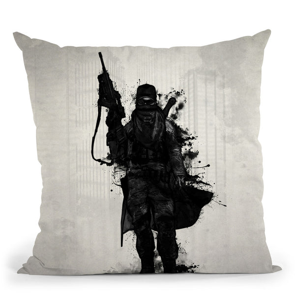 Post Apocalyptic Warrior Throw Pillow By Niklas Gustafson