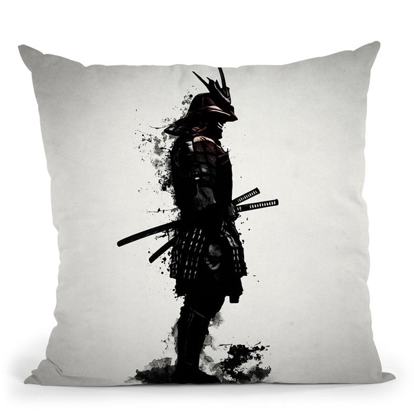 Armored Samurai Throw Pillow By Niklas Gustafson
