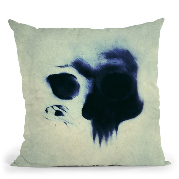 Skull Throw Pillow By Niklas Gustafson