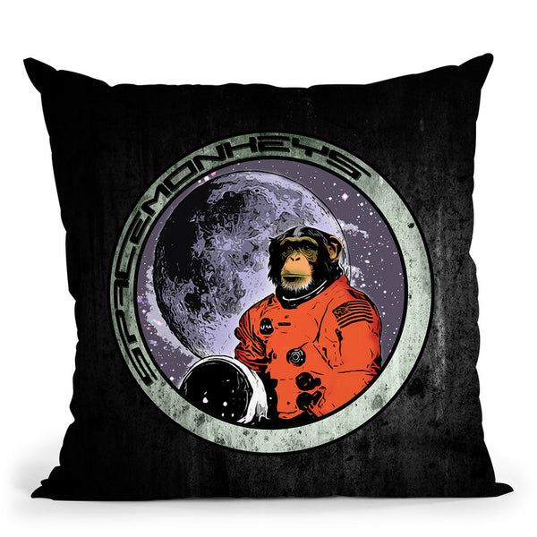 Space Monkeys Throw Pillow By Niklas Gustafson