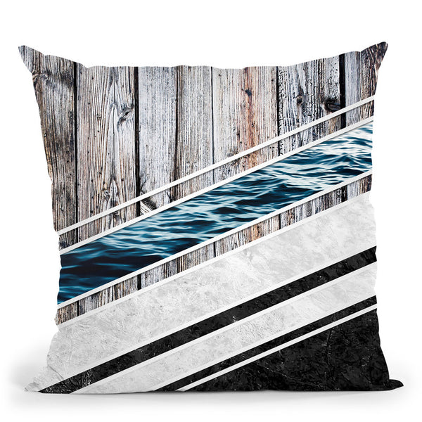 Striped Materials Of Nature I Throw Pillow By Niklas Gustafson