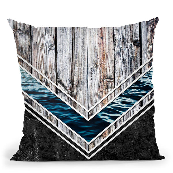 Striped Materials Of Nature Ii Throw Pillow By Niklas Gustafson