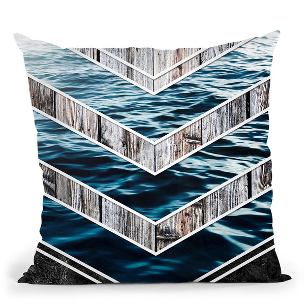 Striped Materials Of Nature Iii Throw Pillow By Niklas Gustafson