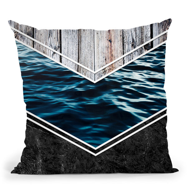 Striped Materials Of Nature Iv Throw Pillow By Niklas Gustafson