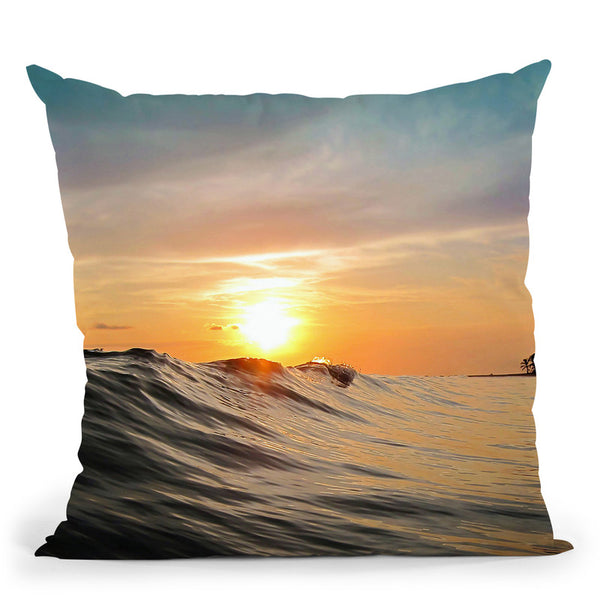 Sunset In Paradise Throw Pillow By Niklas Gustafson