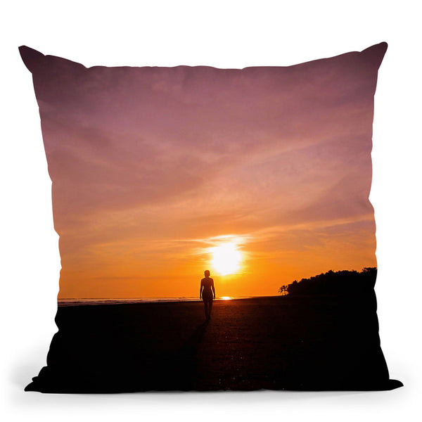 Sunset Walk Throw Pillow By Niklas Gustafson