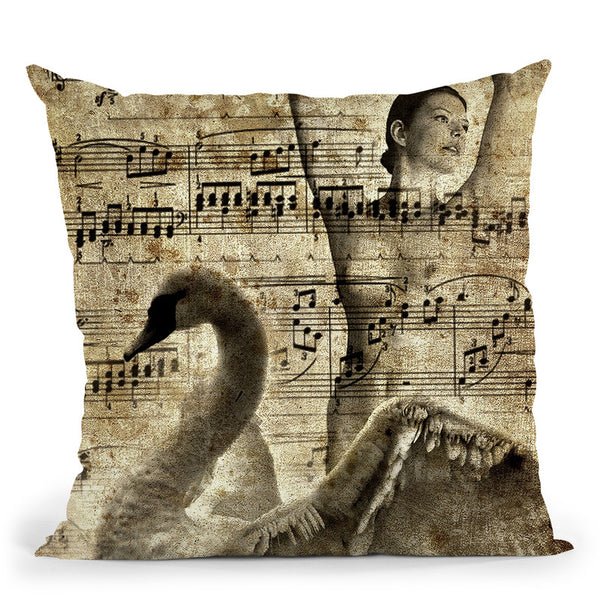 Swan Lake Throw Pillow By Niklas Gustafson