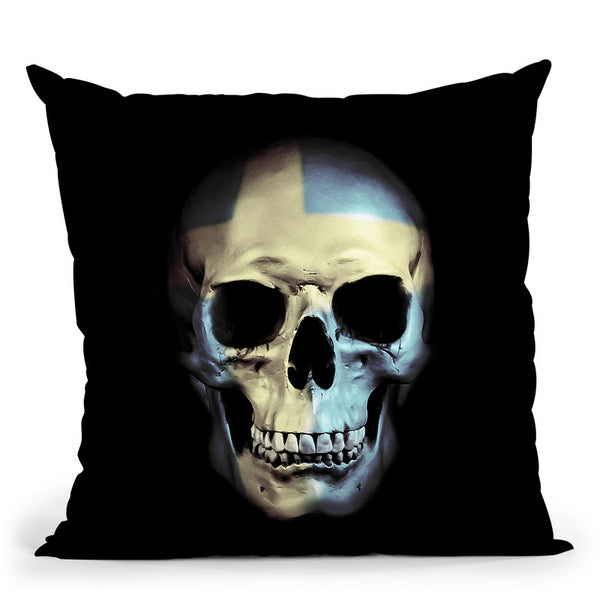 Swedish Skull Throw Pillow By Niklas Gustafson