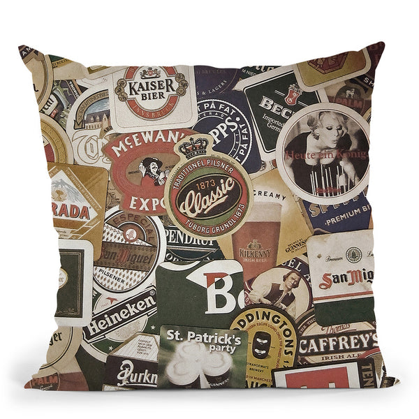 Beer Throw Pillow By Niklas Gustafson