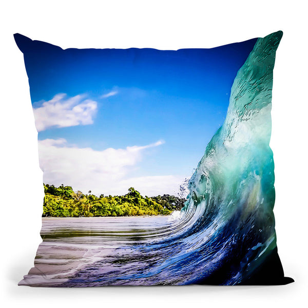 Wave Wall Throw Pillow By Niklas Gustafson