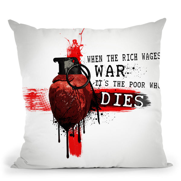 When The Rich Wages War Throw Pillow By Niklas Gustafson