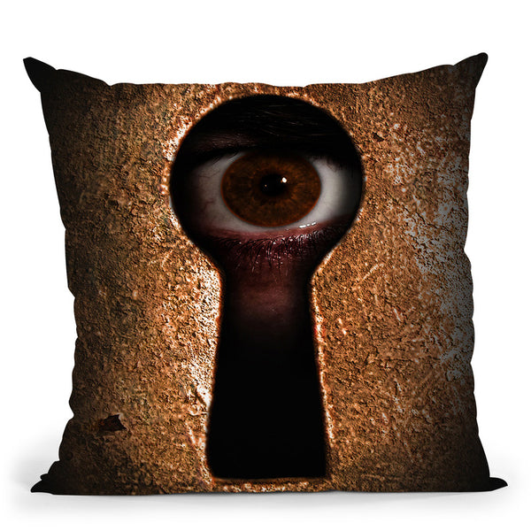 Who Is Watching You Throw Pillow By Niklas Gustafson