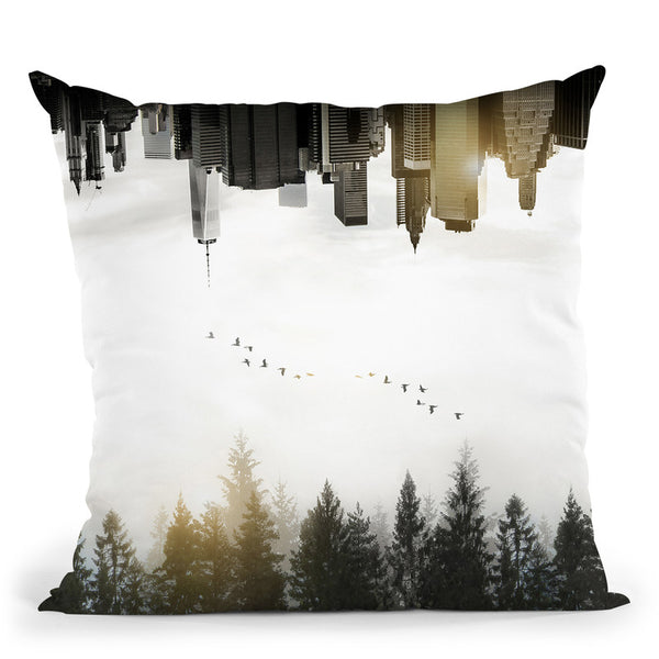 Duality Throw Pillow By Niklas Gustafson