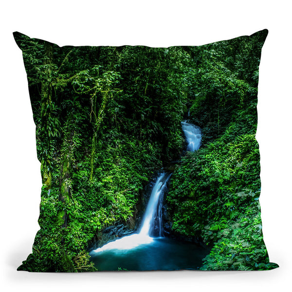 Jungle Waterfall Throw Pillow By Niklas Gustafson
