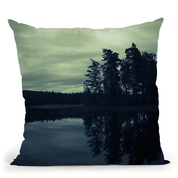 Lake By Night Throw Pillow By Niklas Gustafson