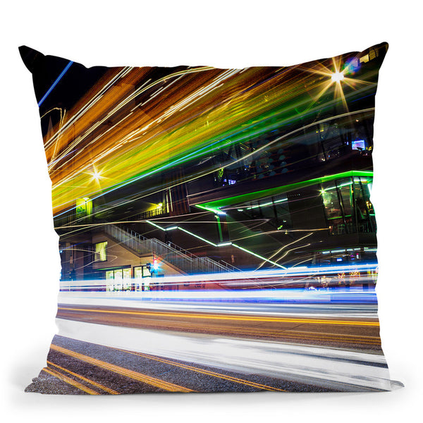 Light Trails Ii Throw Pillow By Niklas Gustafson