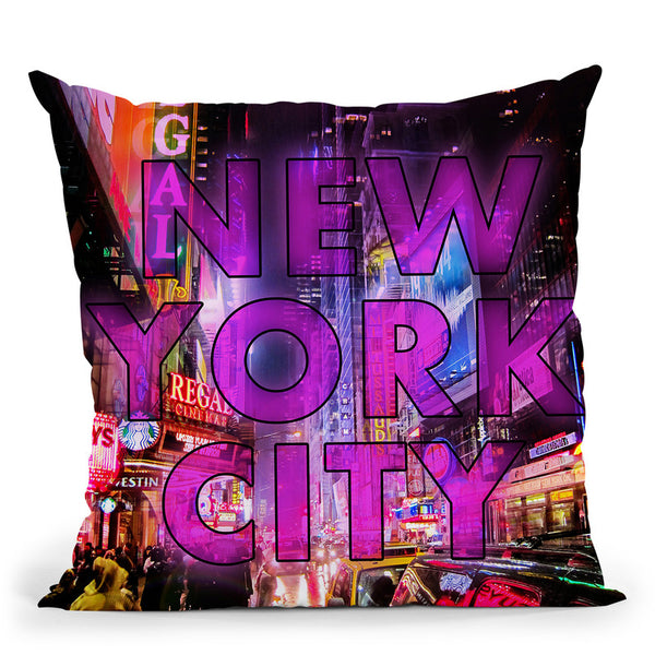 New York City - Color Throw Pillow By Niklas Gustafson