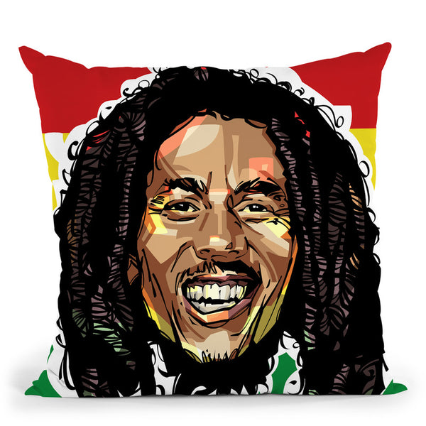 Bob Marley Head Throw Pillow By Nikita Abakumov
