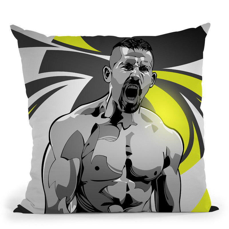 Boyka Throw Pillow By Nikita Abakumov