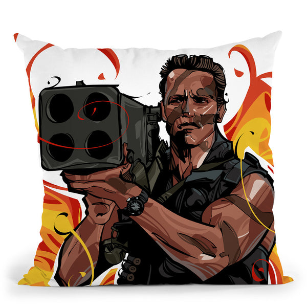 Commando Throw Pillow By Nikita Abakumov
