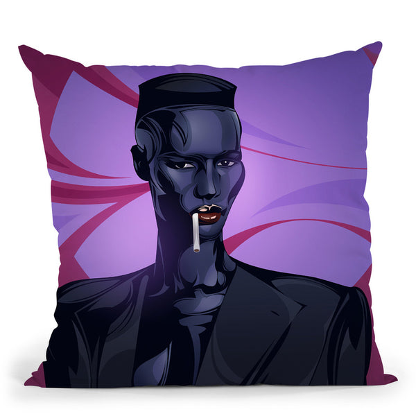 Grace Jones Throw Pillow By Nikita Abakumov