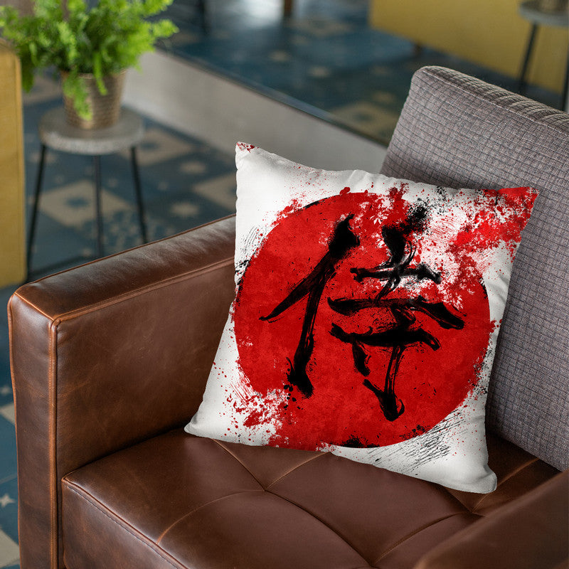 Kanji Samurai Throw Pillow By Nikita Abakumov