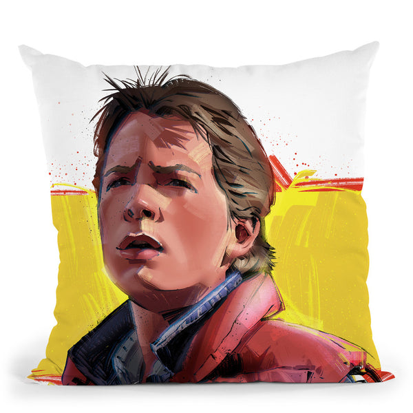 Back To The Future Throw Pillow By Nikita Abakumov