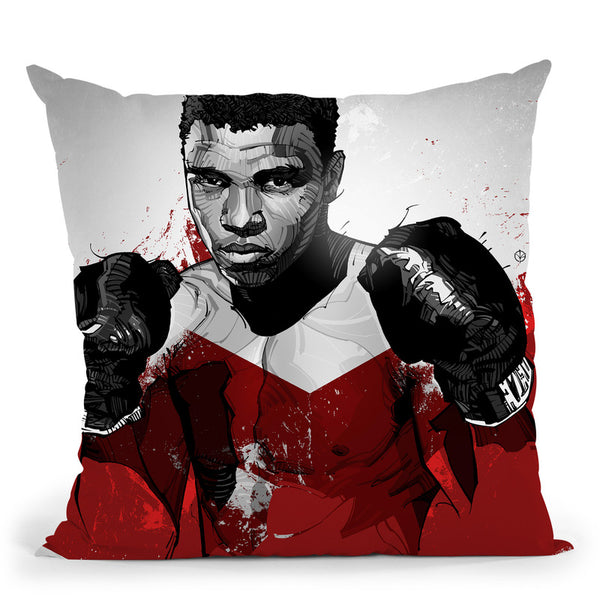 Muhammad Ali I Throw Pillow By Nikita Abakumov