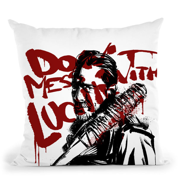 Negan Throw Pillow By Nikita Abakumov