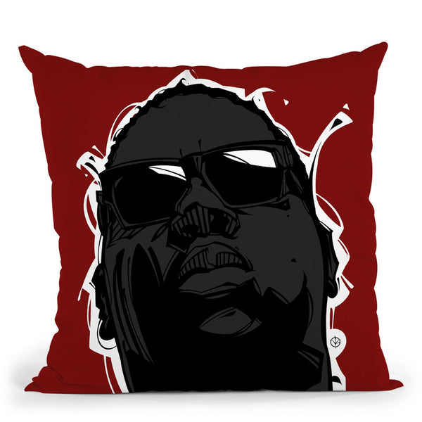 Big I Throw Pillow By Nikita Abakumov