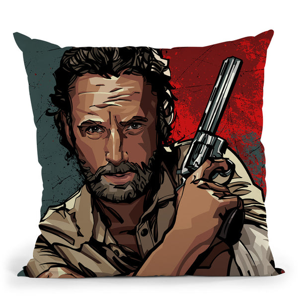 Rick Grimes Throw Pillow By Nikita Abakumov