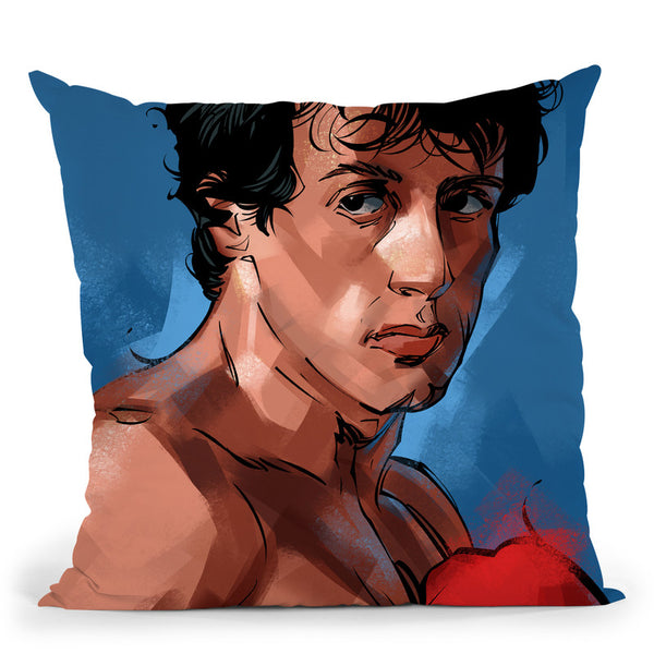 Rocky I Throw Pillow By Nikita Abakumov