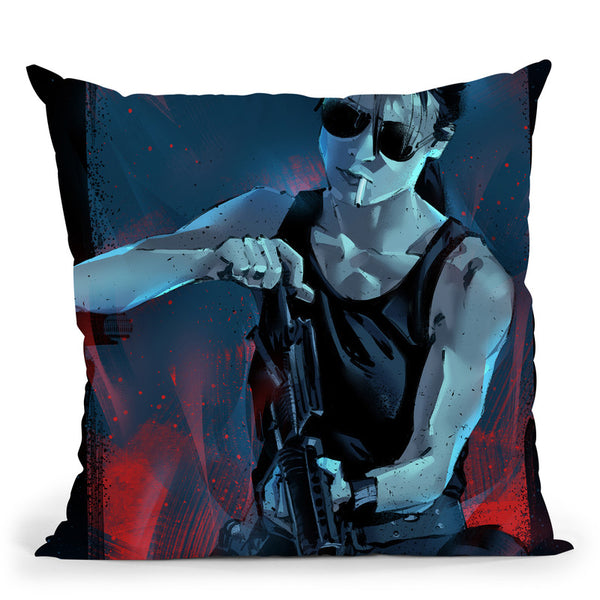 Sarah Connor Throw Pillow By Nikita Abakumov