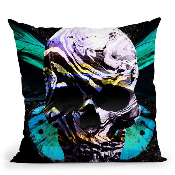 Skull I Throw Pillow By Nikita Abakumov
