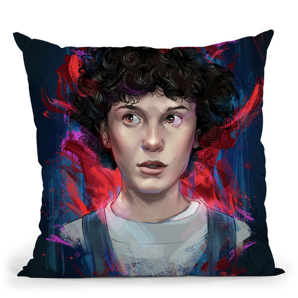 Stranger Things Throw Pillow By Nikita Abakumov