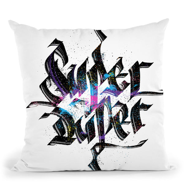 Super Duper Throw Pillow By Nikita Abakumov