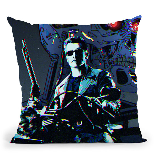 Terminator I Throw Pillow By Nikita Abakumov