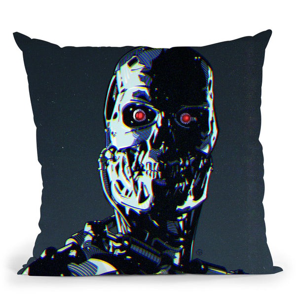 Terminator Ii Throw Pillow By Nikita Abakumov