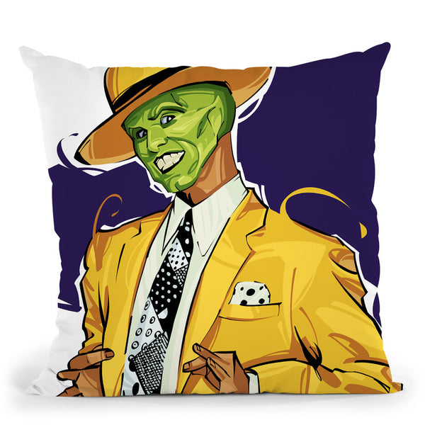 The Mask Throw Pillow By Nikita Abakumov